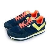 【女】PONY 繽紛韓風復古慢跑鞋 SOLA-V 經典美式風格 藍黃橘 63W1SO63DB