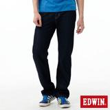EDWIN 大尺碼 REBEL基本五袋直筒牛仔褲-男-原藍色