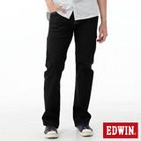 EDWIN 大尺碼 503ZERO中直筒牛仔褲-男-黑色