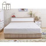 AT HOME-威尼斯梧桐白雙人四件臥室組(床頭箱+床頭櫃+5尺床底+獨立筒床墊)