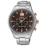 SEIKO CS 紳士爵士 大日期視窗計時腕錶-黑x銀/42mm 7T04-0AE0P(SPC151P1)