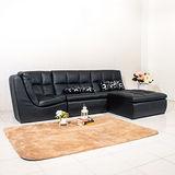 AS-隨意拚組合式皮沙發-單人+躺椅+角落椅
