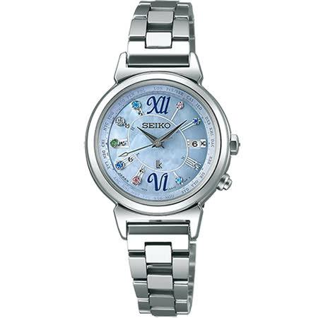 SEIKO 精工 LUKIA 藍色精靈太陽能電波彩鑽腕錶/28mm/1B25-0AF0B -friDay購物 x GoHappy