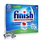 美國 FINISH 洗碗機專用洗碗錠(清新香) 20入/盒