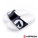 AIRWALK - 輕盈舒適中性EVA休閒多功能室內外拖鞋 - 熊貓白黑