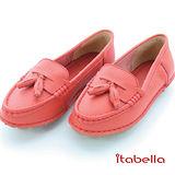 itabella.舒適牛皮包鞋(紅色)