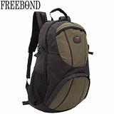 【Freebond】15吋電腦休閒後背包FRN-201GN(黑綠)