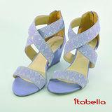 itabella.氣質典雅 鑲鑽楔型涼鞋(紫色)