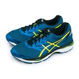 【男】ASICS亞瑟士 專業寬楦慢跑鞋 GEL-CUMULUS 18 藍黃黑 T6C4N-4507