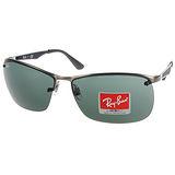 RAY BAN 太陽眼鏡 個性時尚簡約款 (槍銀-黑) #RB3550 02971