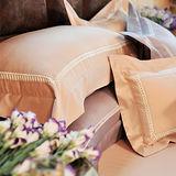 法國CASA BELLE《典藏雅爵》加大簍空刺繡金埃及棉四件式被套床包組