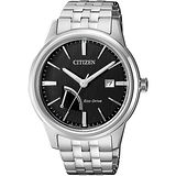 CITIZEN 星辰 光動能電量等級顯示腕錶-黑x銀/41mm AW7000-58E