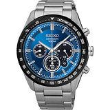 SEIKO Criteria 極速風暴太陽能計時碼錶-藍/42mm V175-0DK0B(SSC465P1)