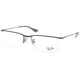 RayBan 光學眼鏡 簡約別緻細眉框款(藍-琥珀) #RB6370D 2887