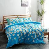 美夢元素 台灣製精梳棉 雙人加大四件式 兩用被床包組-火金姑