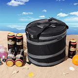 買達人 圓筒折疊野餐籃/保溫保冰野餐籃/海灘保冰桶-一入組 一入組