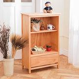 [自然行]-日系雜貨原木櫃(溫暖柚木色)