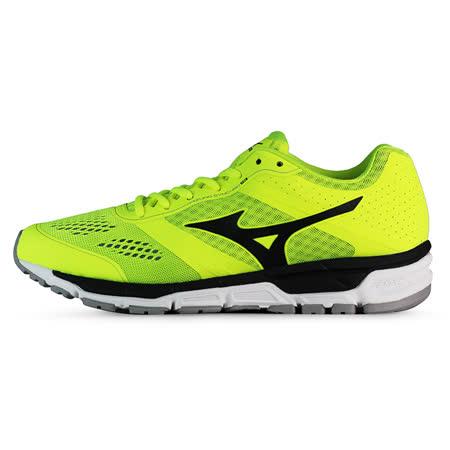 Mizuno 男 慢跑鞋 MIZUNO SYNCHRO MX 美津濃 慢跑鞋 螢綠 J1GE161909 -friDay購物 x GoHappy