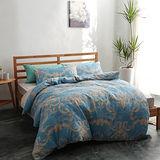 美夢元素 台灣製精梳棉 雙人加大四件式 兩用被床包組-天使的燭台