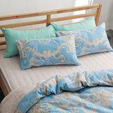 美夢元素 台灣製精梳棉 雙人三件式 床包組-天使的燭台