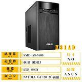 ASUS K31BF-0071A760GTT(A8-7600/4G/1TB/GT720 2GB/DRW/Win 10)個人家用桌上型電腦
