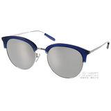 PAUL HUEMAN 太陽眼鏡 韓系造型眉框水銀鏡面款(藍) #PHS1070A C08