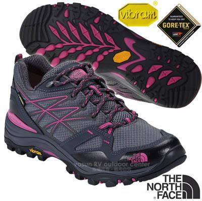 【美國 The North Face】女新款 HEDGEHOG FASTPACK GORE-TEX 低筒輕量登山健行鞋.多功能登山鞋.越野鞋.健行鞋/CDG0 鋅灰/覆盆莓紅