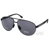 HUGO BOSS太陽眼鏡 男士帥氣飛官偏光款(黑) #HB0752FS KCQ3H