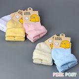 【Pink Pony】翻邊純棉素色巾襪
