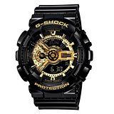CASIO G-SHOCK 變形金剛黑金潮流運動腕錶-55mm/GA-110GB-1A