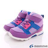 日本Carrot機能童鞋-日系風短筒護踝款-(KC54A9紫藍-15-21cm)