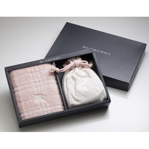 BURBERRY BURBERRY 戰馬束口袋毛巾禮盒(粉色)