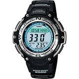 CASIO卡西歐 極限巔峰雙重感應電子腕錶-47mm SGW-100-1VDF