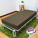 KOTAS 高週波吸濕排汗二折彈簧床(單人3尺)咖啡色