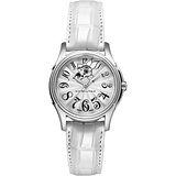 Hamilton JAZZMASTER爵士淑女機械腕錶-銀x白/34mm H32365313