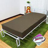 KOTAS 高週波吸濕排汗二折彈簧床-咖啡色 單人3尺
