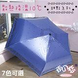 降溫10℃ 超輕量三折傘 - 甜點 【 藍紫色 】散熱降溫/晴雨傘/專櫃傘-日本雨之戀