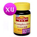 NatureMade萊萃美維生素B群加鐵50粒(4罐) 適合女性