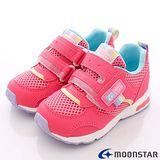 日本Carrot機能童鞋-馬卡龍透氣穩定款C21464桃-(18cm-21cm)