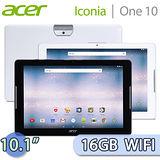 Acer 宏碁 Iconia One 10 16GB WIFI版 (B3-A30) 10.1吋 四核心平板電腦【送原廠平板收納套】
