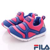 FILA頂級童鞋款-輕量休閒運動款-851P-322桃-(16cm~18cm)
