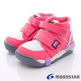 日本Carrot機能童鞋-雙鞋墊低筒護踝機能機-(C21404粉-15-21cm)