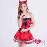 【天使霓裳】惡魔 俏麗小魔 萬聖節派對角色扮演服(紅F)