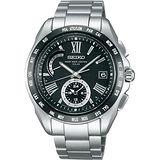 SEIKO BRIGHTZ 防眩太陽能羅馬錶盤4局電波腕錶-黑/42mm/8B54-0AE0D(SAGA089J)