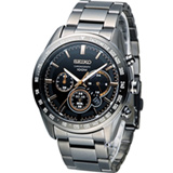 SEIKO Criteria 極速狂風太陽能計時腕錶 V175-0DK0K SSC477P1