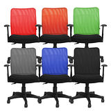 辦公椅/電腦椅【Color Play生活館】多彩網背T型扶手輕巧電腦椅(六色)NP-03