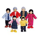 德國Hape愛傑卡 人偶系列現代家庭-亞洲人