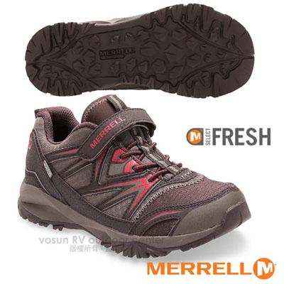 【美國 MERRELL】Capra Bolt Low A/C Waterproof 多功能兒童防水透氣運動鞋(抗菌防臭鞋墊 耐磨) GRIP鞋底.適登山 棕 MLC56199