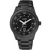 CITIZEN 星辰 Eco-Drive 都會經典光動能腕錶(IP黑/36mm) FE1104-55E