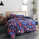 美夢元素 台灣製天鵝絨 大英風情 單人三件式床包被套組